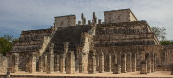 Ancient ruins of Chichen Itza. Mayan Ruins in the Chichen Itza complex not far from Cancun, Mexico stock images