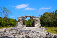Mayan ruins of Cozumel Stock Photography