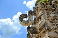 Mayan ruins of Kabah on the Puuc Route, Yucatan Stock Photos