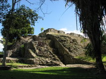 Mayan ruins at Kohunlich Stock Image