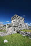 Mayan Ruins in Mexico. Mayn Ruins in Tulum, Mexico.  Ancient Buildings against beautiful blue sky Stock Image