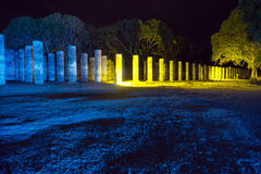 Mayan Ruins at Night Stock Photography