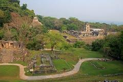Mayan ruins Palenque, Chiapas, Mexico. Stock Photo