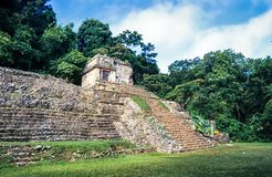 Mayan ruins in Palenque, Chiapas, Mexico. Pre-Columbian Maya civilization of Mesoamerica. Known as Lakamha. UNESCO World Heritage Stock Photos