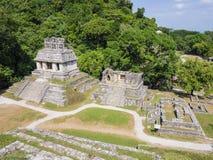 Mayan ruins in Palenque, Chiapas, Mexico. Scenic view of Mayan ruins in Palenque, Chiapas, Mexico Royalty Free Stock Photo