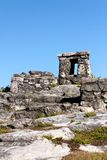 Mayan Ruins on a Rocky Hill Stock Images