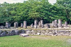 Mayan Ruins in San Gervasio. Cozumel, Mexico.The Palace Structure royalty free stock images