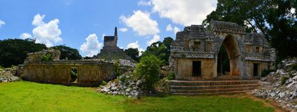 Mayan ruins of Tabna on the Puuc Route, Yucatan Stock Images