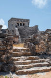 Mayan ruins. Mayan temple and ruins in Tulum Mexico stock photography
