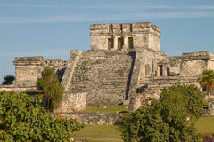 Mayan Ruins of Temple in Tulum Mexico Royalty Free Stock Images