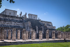 Mayan ruins of Temple of the Warriors in Chichen Itza - Yucatan, Mexico Royalty Free Stock Image