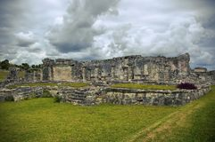 Mayan ruins in Tulum Royalty Free Stock Photos