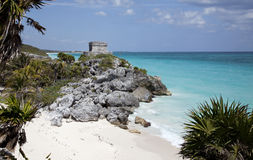 Mayan Ruins at Tulum Stock Image