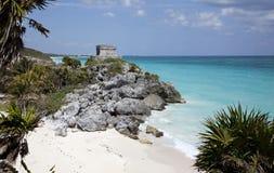 Mayan Ruins at Tulum Stock Image