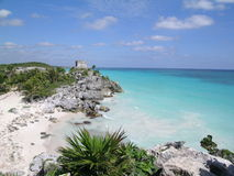 Mayan ruins of Tulum. Stock Photos