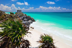 Mayan ruins in Tulum Royalty Free Stock Image