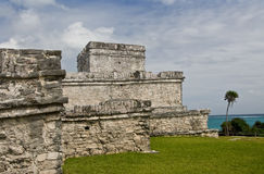 Mayan ruins at Tulum stock photography