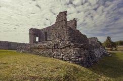 Mayan ruins at Tulum royalty free stock image