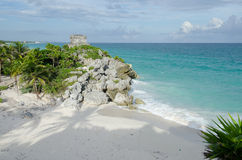 Mayan ruins at tulum,cancun,mexico Stock Photography