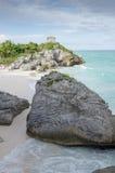 Mayan ruins at tulum,cancun,mexico Stock Image