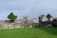 Mayan ruins at tulum,cancun,mexico. Ruins at the beach,tulum stock image