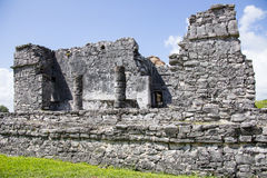 Mayan Ruins - Tulum Cozumel. A closer up view of the architechture of the Mayan ruins at Tulum in Cozumel, Mexico on a warm sunny day in October 2012 stock photography
