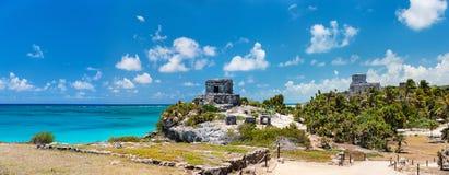 Mayan ruins in Tulum stock image