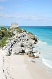 Mayan Ruins at Tulum in Mexico Stock Photography