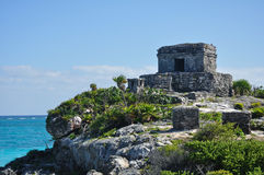 Mayan Ruins at Tulum in Mexico Royalty Free Stock Photo