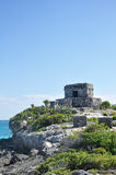 Mayan Ruins at Tulum in Mexico Royalty Free Stock Image