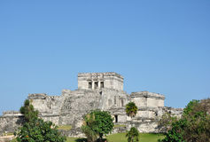 Mayan Ruins at Tulum in Mexico Stock Image
