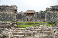 Mayan ruins in Tulum Mexico Royalty Free Stock Image