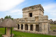 Mayan ruins in Tulum Mexico Royalty Free Stock Photos