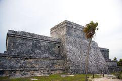 Mayan ruins in Tulum Mexico Stock Image