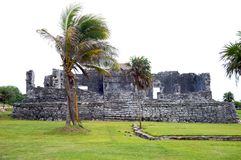 Mayan ruins in Tulum Mexico Stock Photo