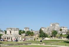 Mayan Ruins at Tulum in Mexico Royalty Free Stock Photos