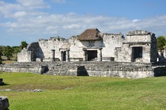 Mayan Ruins at Tulum in Mexico. Against a Clear Blue Sky Stock Images