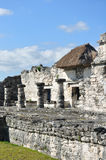 Mayan Ruins at Tulum in Mexico. Against a Clear Blue Sky Stock Photos