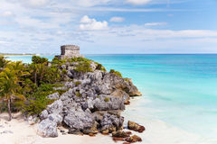 Mayan ruins in Tulum, Mexico Royalty Free Stock Photos