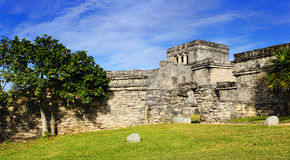 Mayan ruins of Tulum Mexico Stock Image