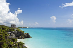 Mayan ruins of Tulum, Mexico Stock Photography
