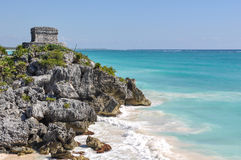 Mayan Ruins in Tulum. Mexico royalty free stock photo