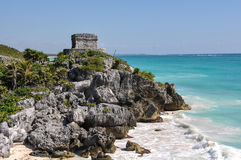 Mayan Ruins in Tulum Royalty Free Stock Images