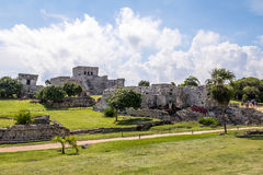 Mayan Ruins - Tulum, Mexico. Mayan Ruins in Tulum, Mexico royalty free stock images