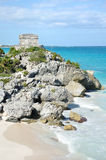 Mayan Ruins at Tulum in Mexico Stock Images