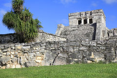 Mayan ruins in Tulum, Mexico royalty free stock photo
