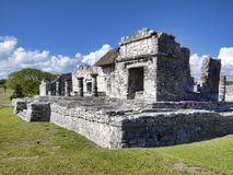 Mayan ruins of Tulum - Mexico. January 28, 2014, Quintana Roo, Mexico - A general view of the Mayan archaeological ruins of Tulum stock photo