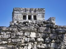 Mayan ruins of Tulum - Mexico. January 28, 2014, Quintana Roo, Mexico - A general view of the Mayan archaeological ruins of Tulum royalty free stock photo