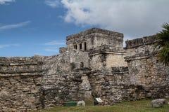 Mayan ruins at Tulum Mexico. Near Couzimel Royalty Free Stock Photos