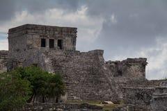 Mayan ruins at Tulum Mexico. Near Couzimel Royalty Free Stock Photo
